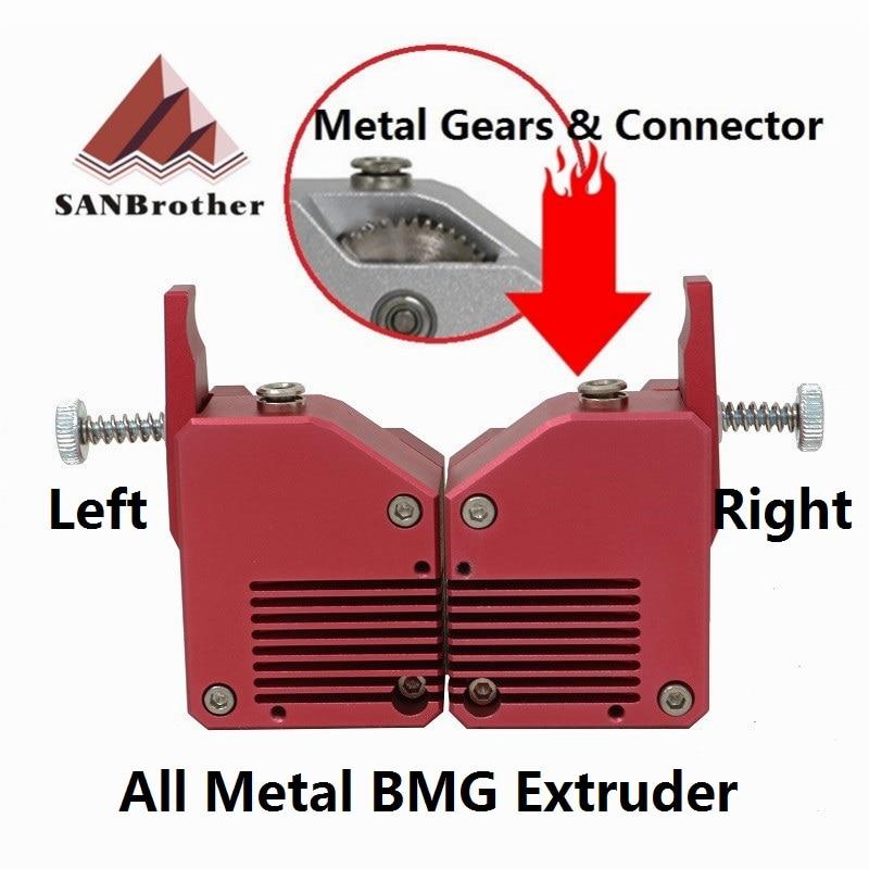 Impressora 3d extrusora de metal bowden extrusora bmg extrusora de unidade dupla para impressora 3d de alto desempenho para impressora 3d mk8