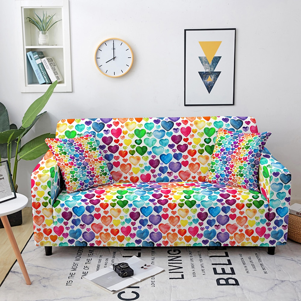 marble sofa cover sofa slipcovers elastic couch covers sectional sofa covers sofa set loveseat armchair sofa couch cover Colorful Printed Sofa Covers for Living Room Corner Sofa Cover Elastic Couch Slipcovers Sofa Protector Couch Cover 1-4 Seaters