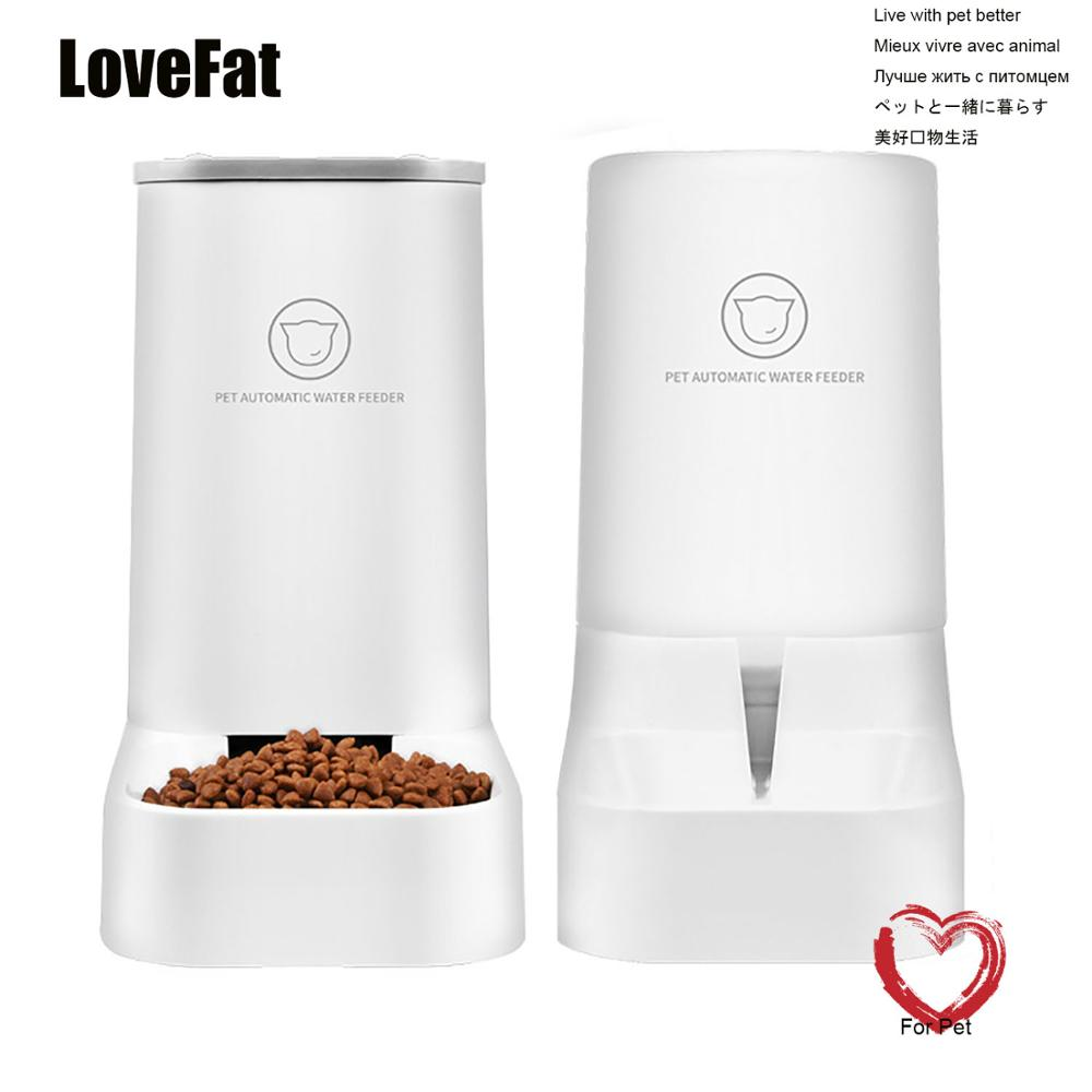 Lovefat 2.5L الحيوانات الأليفة القط التلقائي مغذيات سعة كبيرة القط نافورة الماء الكلب البلاستيك زجاجة المياه تغذية الأطباق موزع مياه