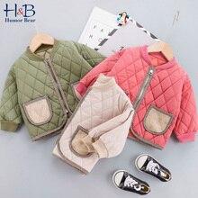 Humor Bear Winter Children'S Jacket Autumn OuterwearCotton Long-Sleeved Velvet Padded Baseball Coat