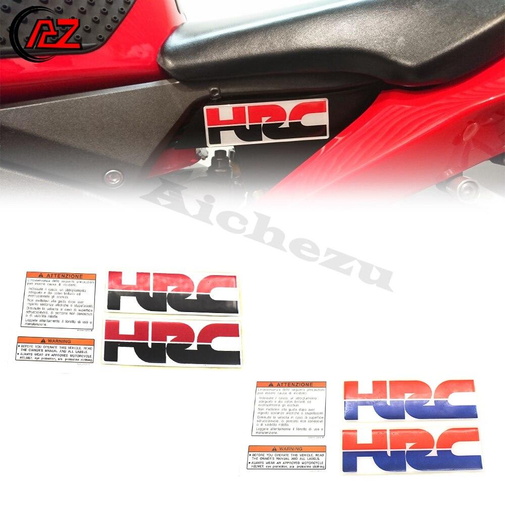 ACZ de la motocicleta decorativa adhesivo de tanque de combustible HRC 3D pegatinas de calcomanías para Honda CBR 600, 900, 929, 954, 1000 RR F2 F3 F4 F4I F5