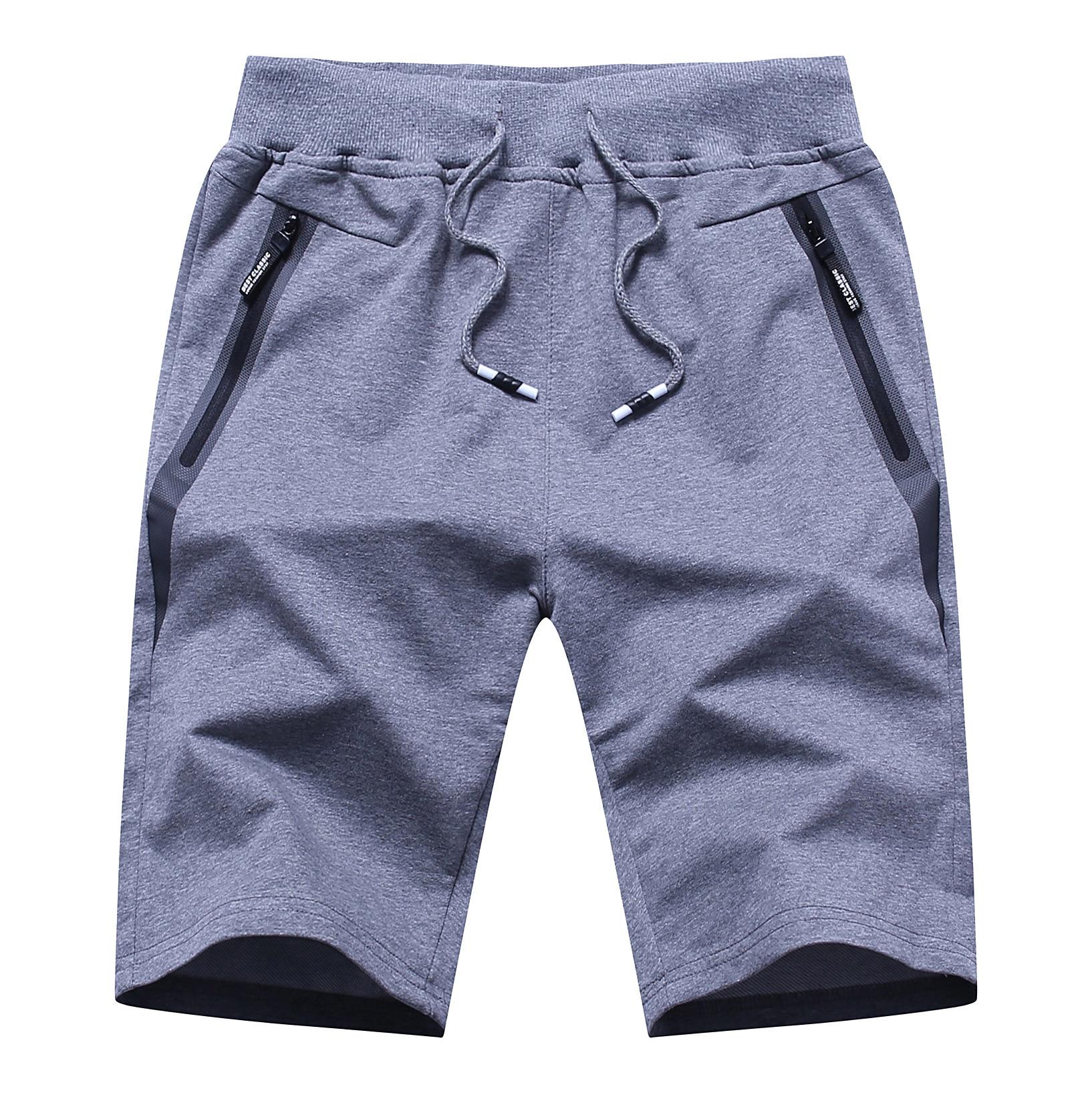 Мужские спортивные брюки 2021, мужские летние шорты оптом, мужские шорты, студенческие вязаные повседневные брюки, Молодежные Брюки-Капри, пл...