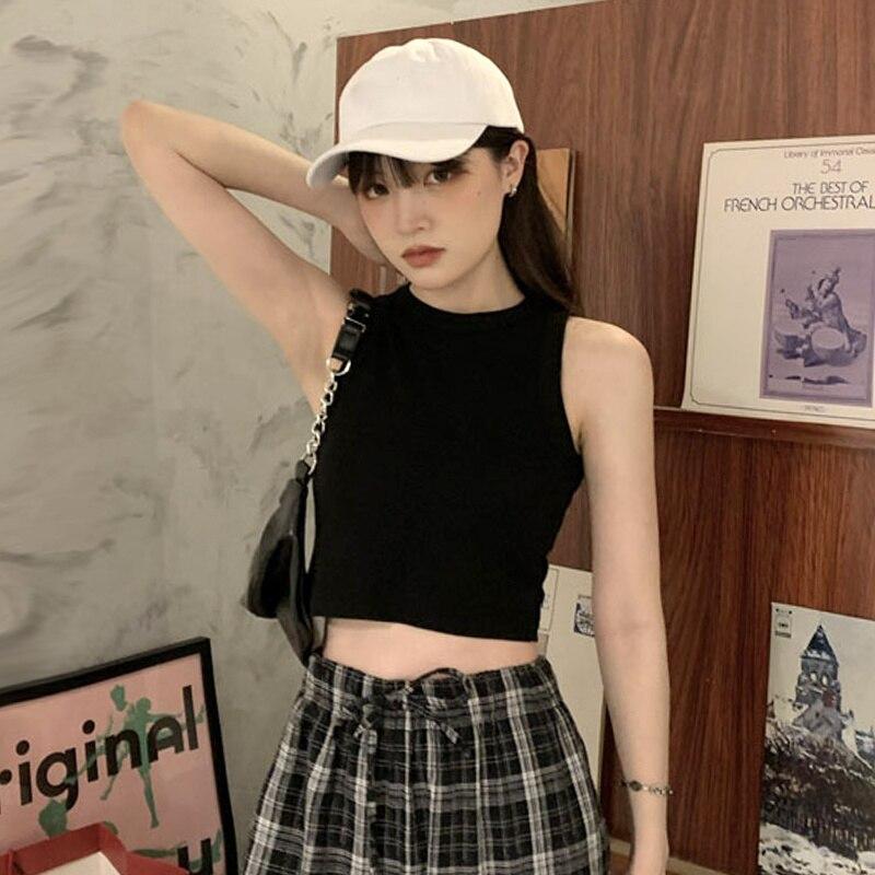 Black Suspender Vest Women Wear Summer Bottoming, Beautiful Back, Bra, Hot Girl Short, Sleeveless To