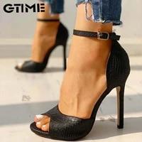 women sandals t strap high heels sexy stripper shoes 2020 new peep toe summer female yellow black red whitesjpae 162