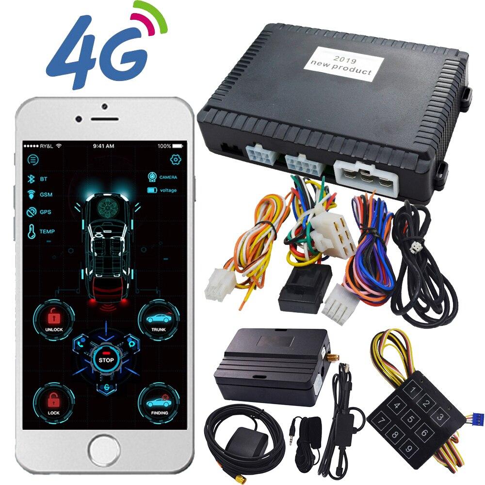 Автосигнализация cardot 4G с пультом дистанционного управления, совместима с оригинальной кнопкой запуска смартфона