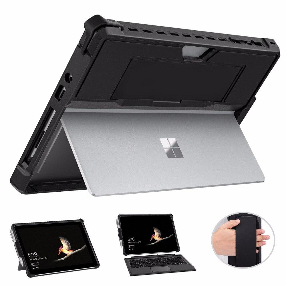 حافظة موكو لاجهزة مايكروسوفت سيرفس غو 2 ، حافظة كاملة في واحد واقية متينة مع حامل قلم ، حزام يد ، لاجهزة سطح جو 10 انش