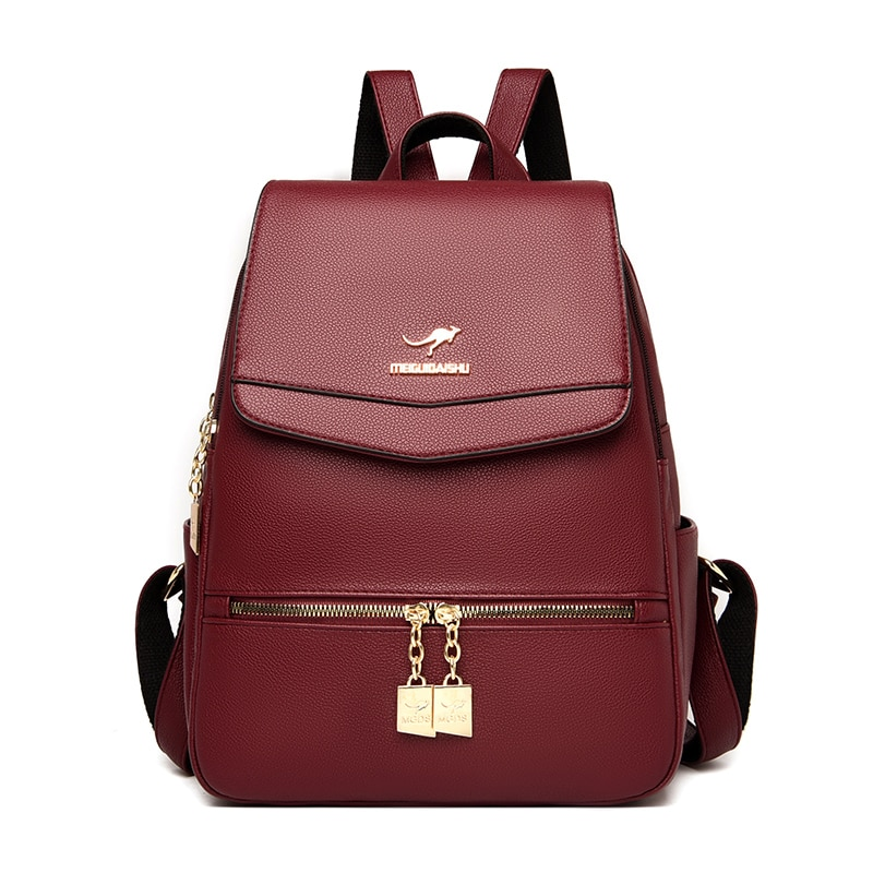 Женские рюкзаки, большой рюкзак, простой элегантный дизайн, школьные сумки для девочек, дорожный Повседневный Рюкзак, женский кожаный рюкза...