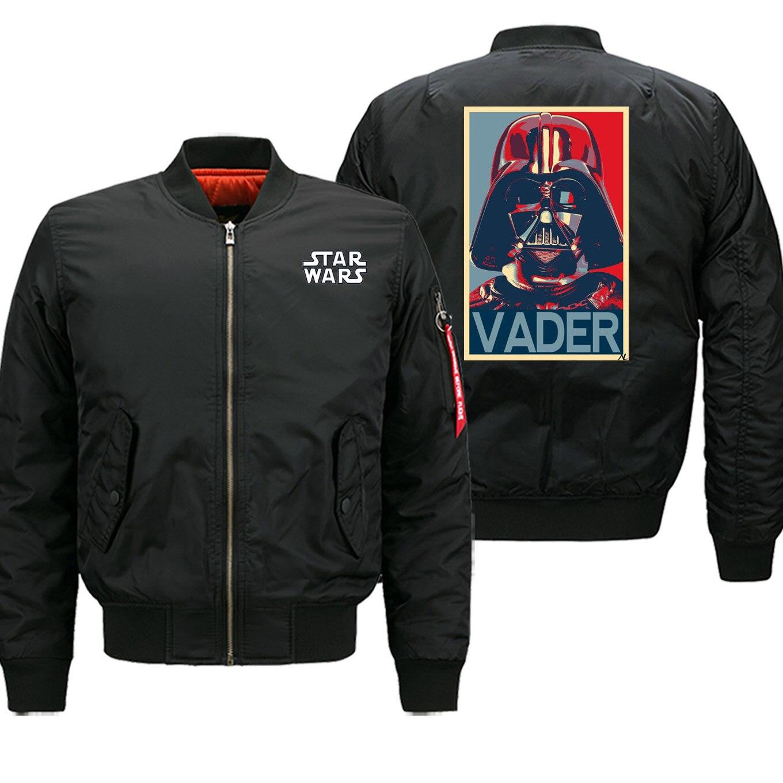 Gran oferta de chaquetas de invierno para hombre, ropa de calle de Darth Vader, Bomber, chaqueta informal de moda con cremallera, abrigo de motorista militar grueso