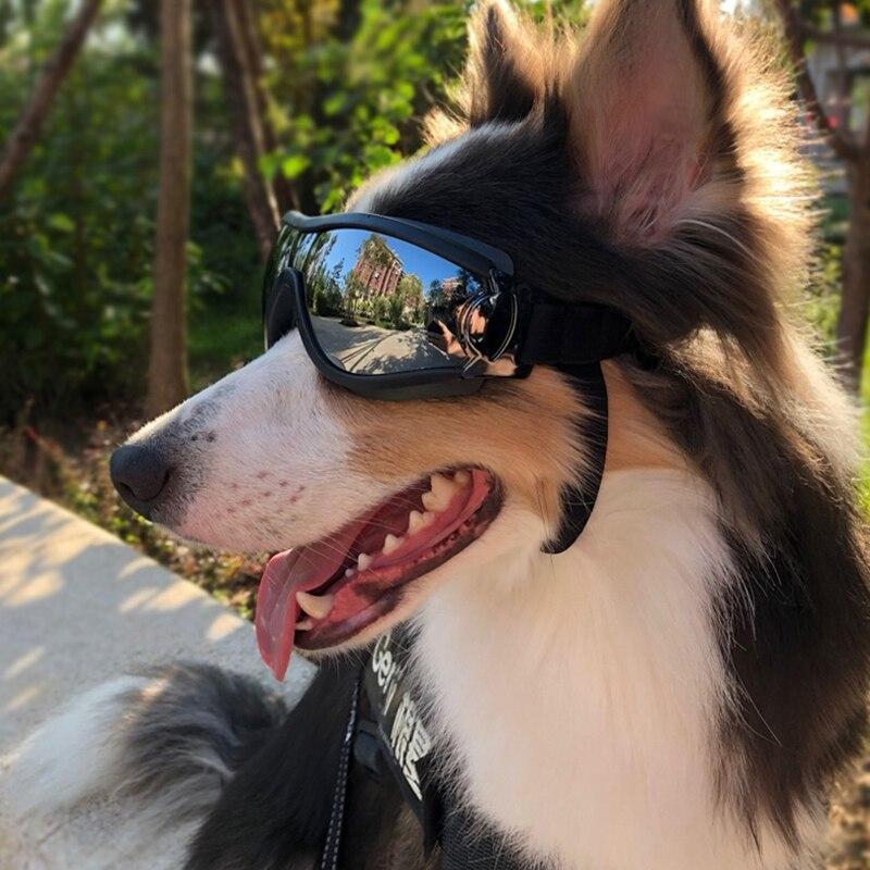 Товары для домашних животных, собак, регулируемые солнцезащитные очки для домашних животных, защита от УФ-лучей, защита глаз, водонепроница...