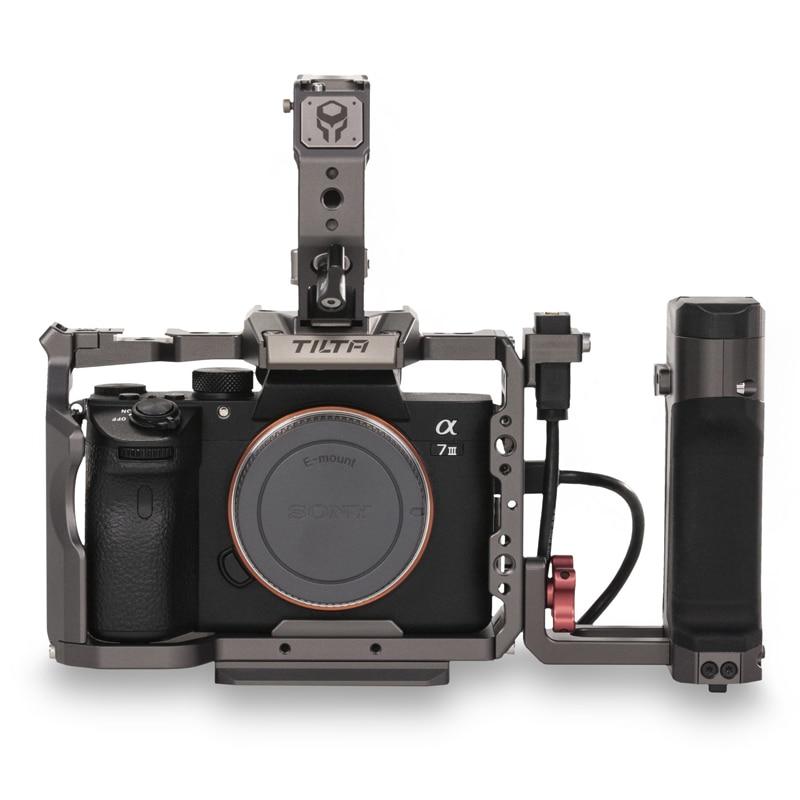 Tilta A7 A9 Rig Kit A7 iii kamera Käfig TA-T17-B-G Top Griff Seite Power Griff mit Run/Stop Für s0ny A7III A7R3 A7M3