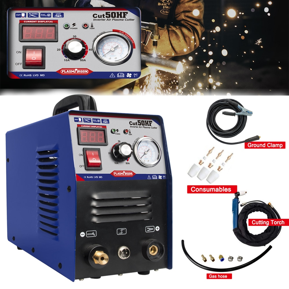 IGBT Plasma Cutter CUT50 HF 50Amps Inverter 220V DC Air Plasma Cutting Machine Clean Cutting Thickness 12mm
