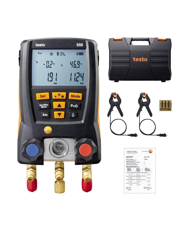 Testo 550 التبريد عدة متعددة الرقمية 2 قطعة تحقيقات المشبك المبردات الإلكترونية الفريون أدوات جهاز القياس مع بلوتوث