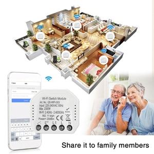WiFi Switch Module Intelligent Light Switch DIY Breaker Module APP Remote Voice Control Compatible with Alexa Google Home