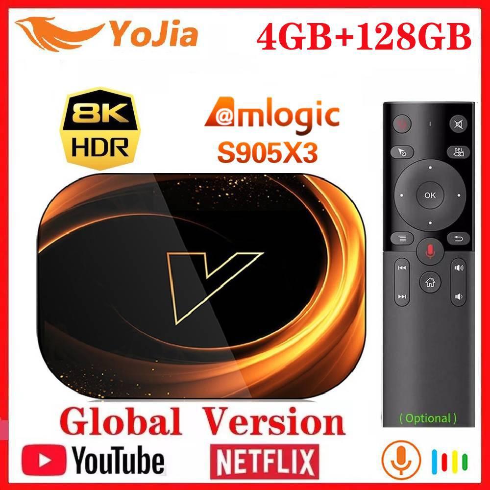 2020 Новый X3 Smart 8K TV Box Android 9,0 Amlogic S905X3 Max 4 ГБ ОЗУ 128 Гб ПЗУ 64 Гб 1000 м двойной Wifi Netflix Youtube медиаплеер