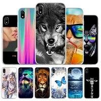 lion case for xiaomi mi 11 ultra 10t pro cute case for xiaomi redmi note 8 9 10 pro mi 11 lite redmi 7a soft painted covers