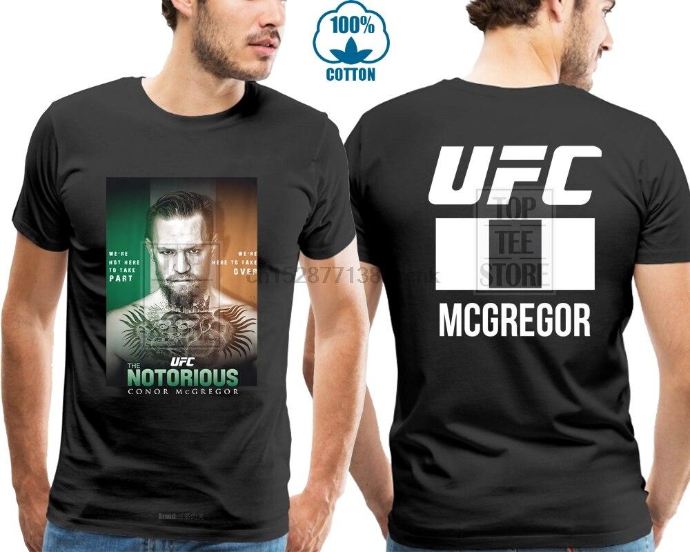 Connor Mcgregor Notorious hombres negro Camiseta talla S M L Xl 4Xl