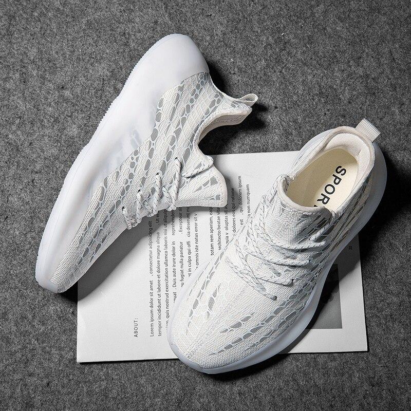 أحذية رياضية للرجال موضة 2018 أحذية هيب هوب أحذية رياضية للسباق البشري أحذية رجالية فاخرة بيضاء للمدربين