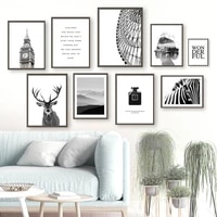 london big ben ferris wheel deer zebra wall art canvas painting nordic posters and prints wall pictures for livig room decor