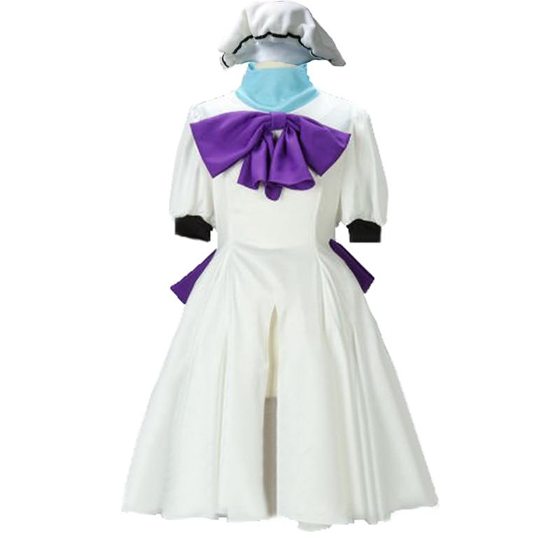 2019 When They Cry Higurashi no Naku Koro ni Rena Ryugu Cosplay Costume with hat