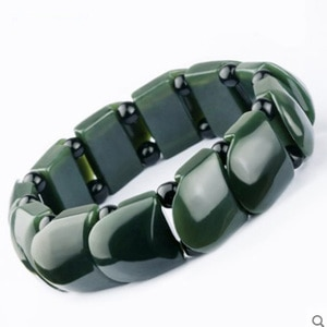Jade Bracelet Natural Hetian Qingyu lucky Bracelet Jewelry Men's Fine Jewelry Hetian Qingyu Safe transshipment Bracelet