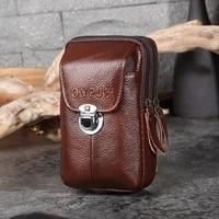 high quality waist bag pu leather multifunctional universal mobile phone bag coin purse portable waist packs man belt holder