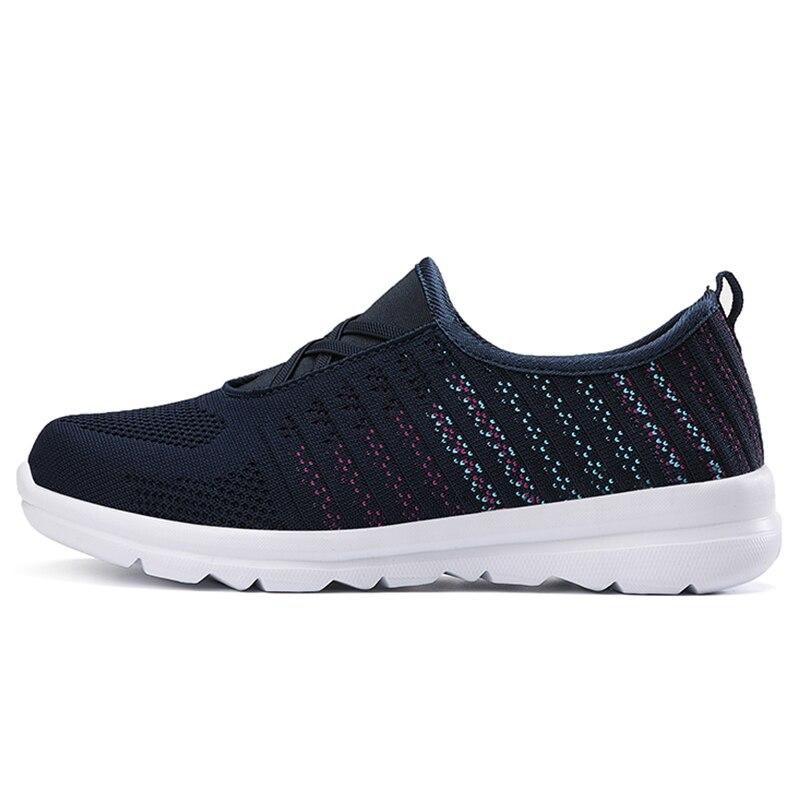 ¡Novedad! Zapatos vulcanizados wucie para deporte Casual, zapatos antideslizantes de malla transpirable ligera, zapatos para madres resistentes al desgaste, moda perezosa.