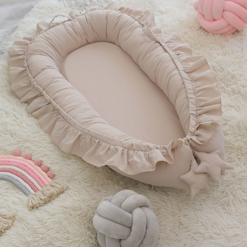 Removable Newborn Sleeping Nest Baby Beddings Set Soft Playpen Cot Co-sleeper Bassinet Crib Infant Cradle Mattress Cushion