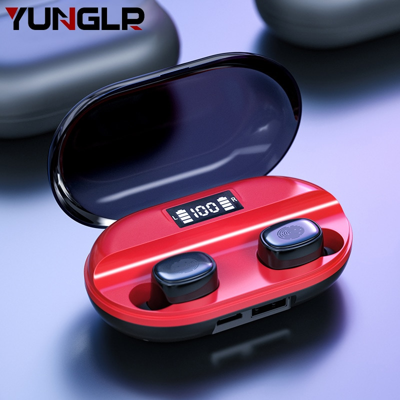 Bluetooth Earphone TWS 5.0 2200mA Charging Box With MIC Fone Audifonos Inalambicos Cuffie LED Display In Ear Wireless Earphones