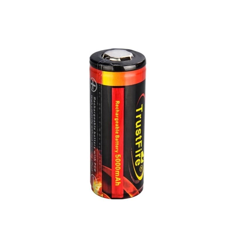 1 ud. 26650 5000mAh Li-ion 3,7 V batería recargable para linterna LED LX9A