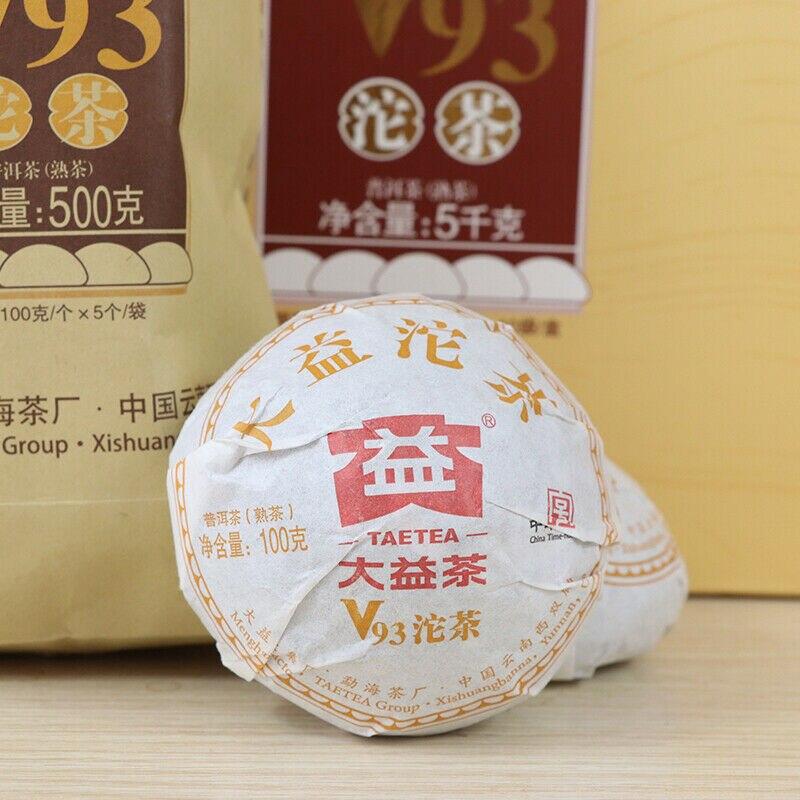 TAETEA clásico V93 Pu-erh Tuo Cha * 2018 Menghai Dayi maduro té 1801 lote Shu Puer de té