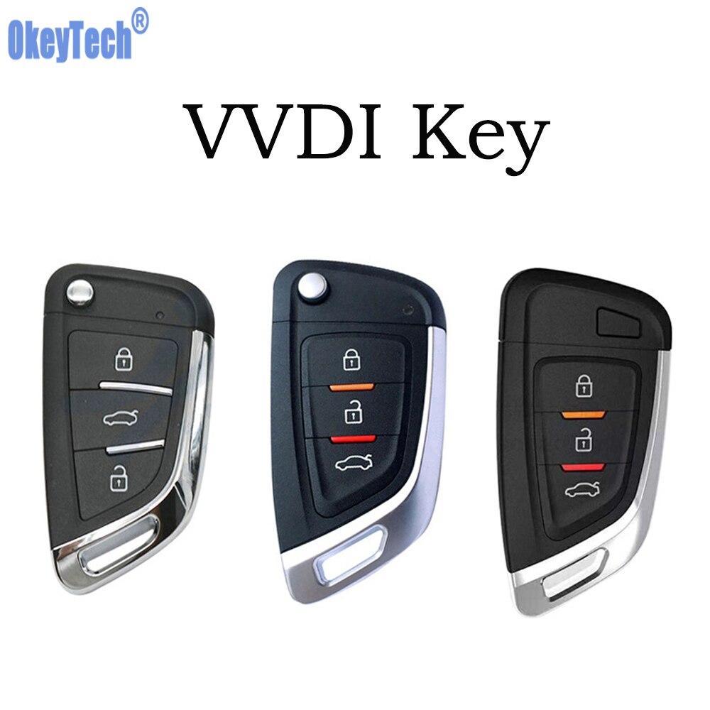 OkeyTech VVDI llave Universal inalámbrica/cable llave inteligente llave de proximidad llave para llave VVDI 3 teclas de coche control remoto VVDI2