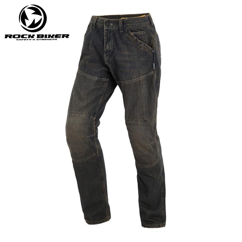 ROCK BIKER-بنطلون جينز لراكبي الدراجات النارية للرجال ، قابل للتنفس ، مقاوم للسقوط ، يمكن ارتداؤه ، للموتوكروس وركوب الدراجات النارية