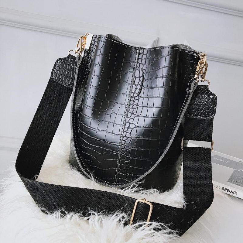 Crocodile Crossbody Bag Women Shoulder Bag Brand Designer Women Bags Luxury PU Leather Crocodile Ansloth Bag Bucket Bag Handbag
