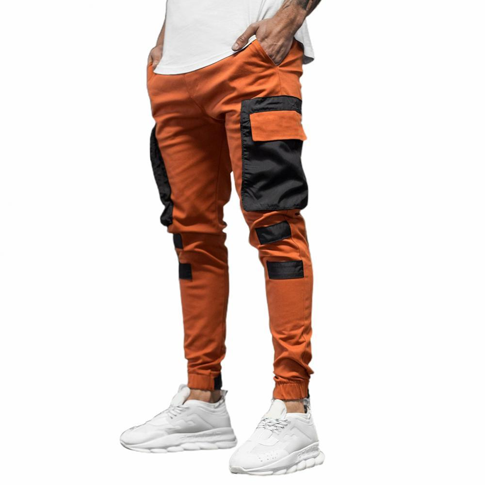 Брюки-карго мужские повседневные, Джоггеры в стиле пэчворк, свободные штаны в стиле хип-хоп, панк, уличная одежда, осень-зима