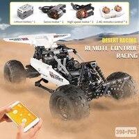 mould king rc car moc the desert racing car models building blocks bricks remote control car assemble educational toys for kids