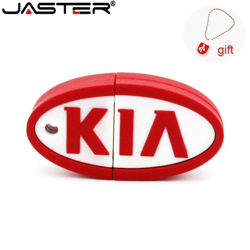 Chave 4 gb do carro do silicone da movimentação da pena de jaster kia 8 gb 16 gb 32 gb 64 gb em massa dos desenhos animados