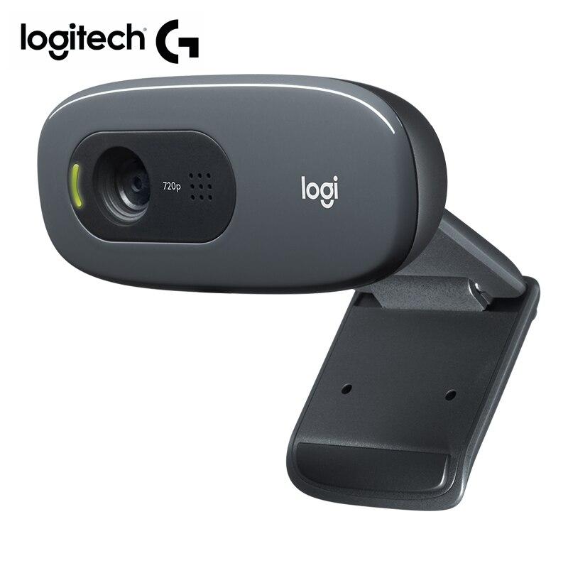 Logitech c270 webcam standard objektiv usb kamera 720p/30fps web cam für pc video aufruf cam