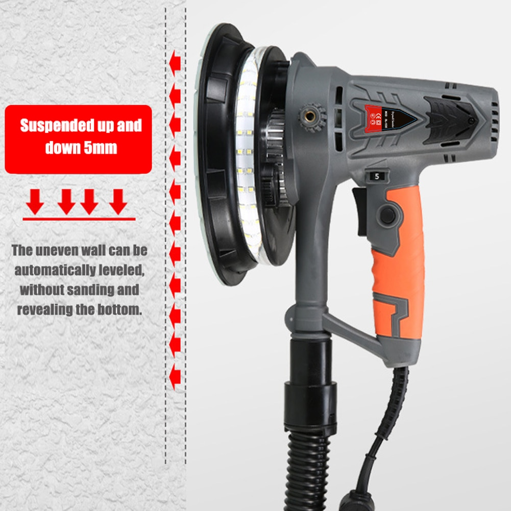 220 فولت 1390 واط الكهربائية الجدار ماكينة الطحن ديكور منزلي أدوات فائدة مع شرائط إضاءة LED سرعة قابل للتعديل