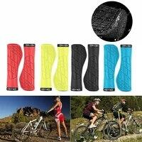 west biking ergonomic mountain bike grips mtb lock on handlebar grips mtb bicycle cuffs anti skid bike accessories 8 colors