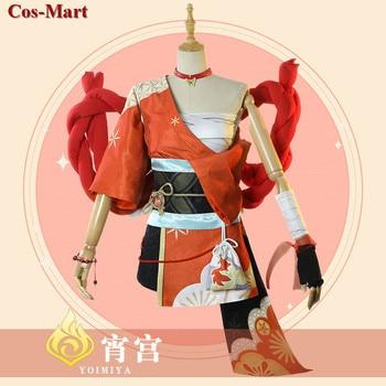 Game Genshin Impact Yoimiya Cosplay Costume Female Fashion Combat Uniform Activity Party Role Play Clothing XS-XXL New Product