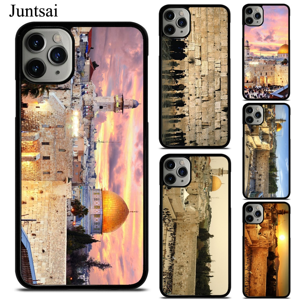 Carcasa para iPhone XS, 11Pro, Max, XR, X, SE, 2020, 6S, 7, 8 Plus, cubierta trasera de TPU con diseño de pared de cera occidental de Israel