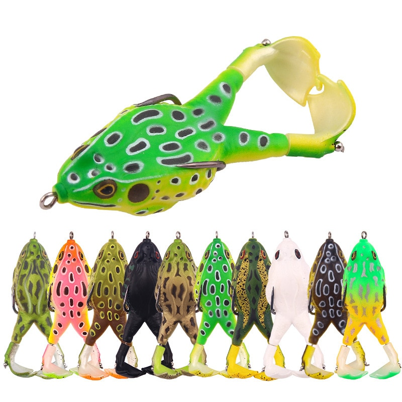 1PC Minnow Fishing Lure Double Propellers Frog Rotating Leg Wobbler Soft Bait 9cm/13.6g Artificial Popper Fishing Tackle full lure kit set worm hook soft bait popper pencil crank wobbler vib minnow frog spinner connector jig fishing tackle box