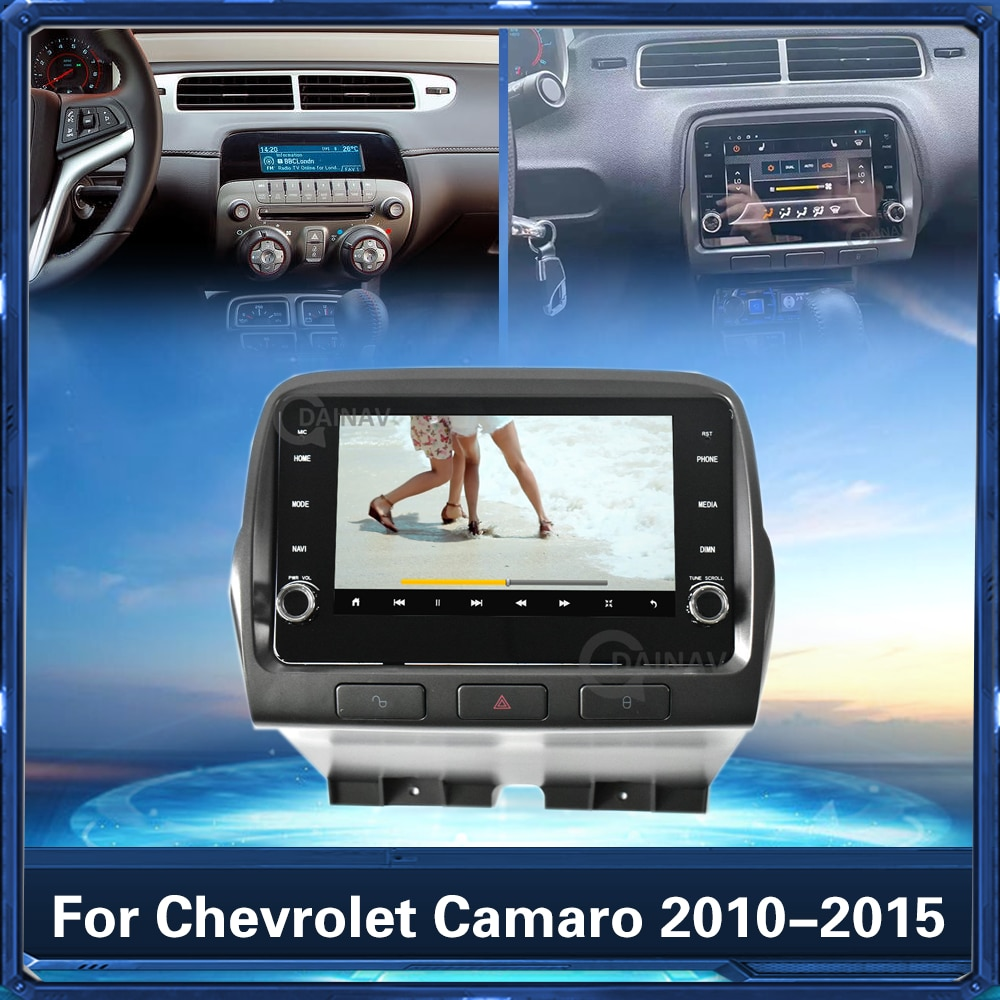 128GB 2 Din راديو السيارة لتحديد المواقع والملاحة Chevrolet كامارو 2010 2011 2012 2013 2014 2015 مشغل أسطوانات للسيارة لاعب ستيريو استقبال رئيس وحدة
