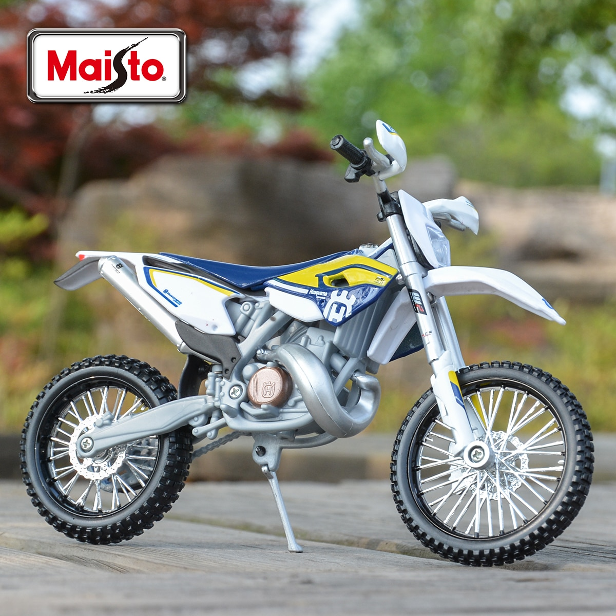 Maisto 1:12 Husqvarna FE 501 Die Cast Vehicles Collectible Hobbies Motorcycle Model Toys