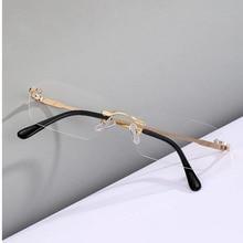 Driving Sun Glasses Rimless Rectangle Sunglasses For Women UV400 Men Clear Color Summer Accessories