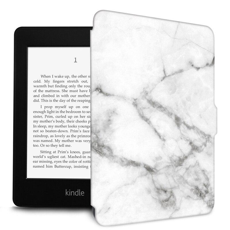 "Funda de mármol Para Funda Kindle Paperwhite 1 2 3 PU + TPU silicona Auto despertar/dormir cubierta inteligente Para Kindle Paperwhite 3 6 ""Capa Para"