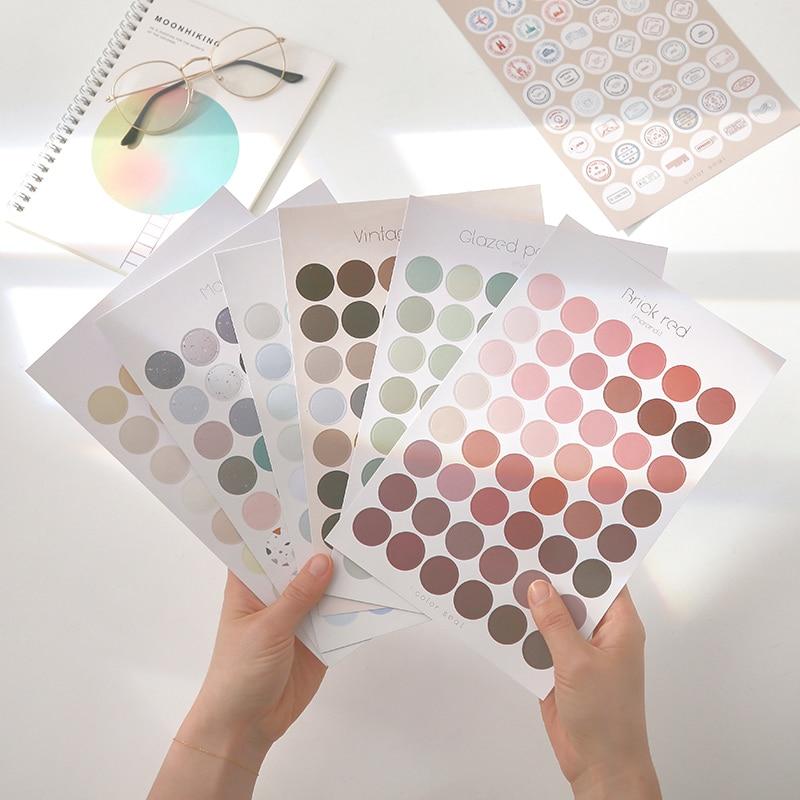 1-copriletto-morandi-serie-rotonda-dot-adesivi-adesivo-decorativo-kawaii-deco-sticker-fai-da-te-diario-album-di-etichetta-cancelleria-scrapbooking