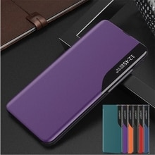 New View Leather Flip Case for Samsung Galaxy S21 Ultra S20 FE S10 Lite S9 S8 Plus Cover On Galaxy N