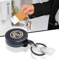 new metal car keychain key ring creative free stretch rope for mg hs zs express mg 3 6 7 gs tf zr zt x power accessories