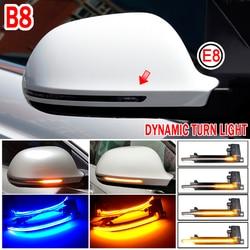 LED Dinâmico Do Carro Turn Signal Blinker Luz Intermitente Para Audi A3 8P A4 A5 B8 Q3 A6 C6 4F S6 S4 S5 S6 A8 D3 8K S8 Lâmpada de sinal    -
